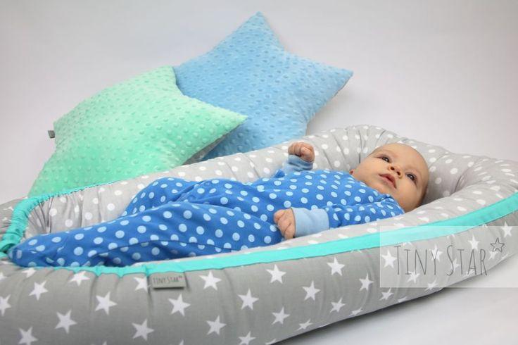 Ach jak wygodnie :) :) #kokon #kokonniemowlęcy #newborn #baby #babyboy #babygirl #sweetbaby #mint #grey #mięta #pastele #pastelovelove #love #gniazdko #otulacz #leżaczek #gwiazdki #stars
