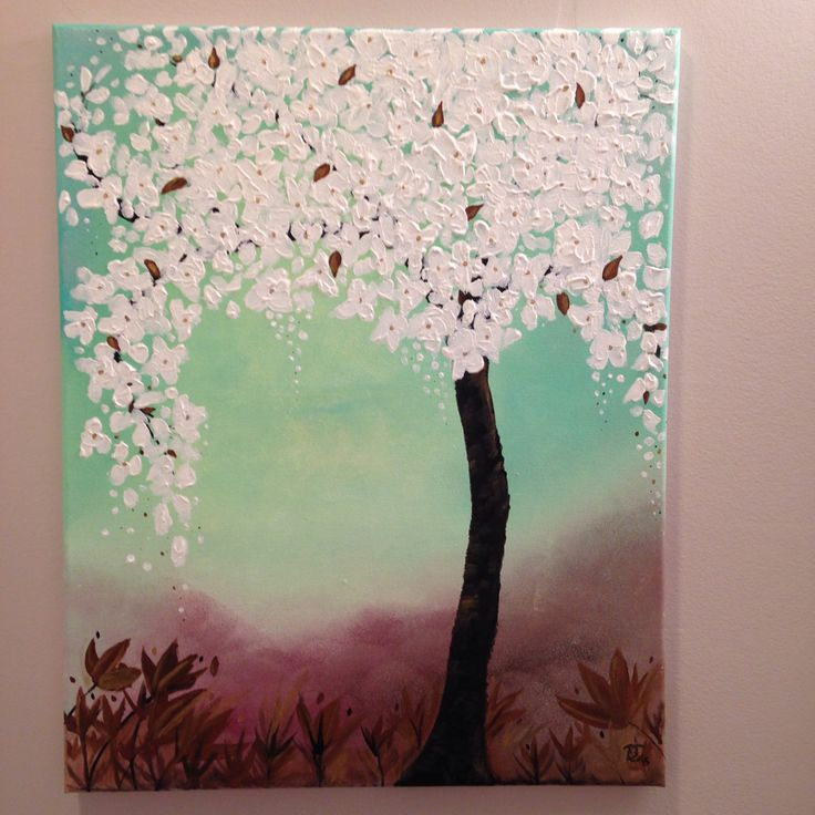 Spring insight acrylic painting