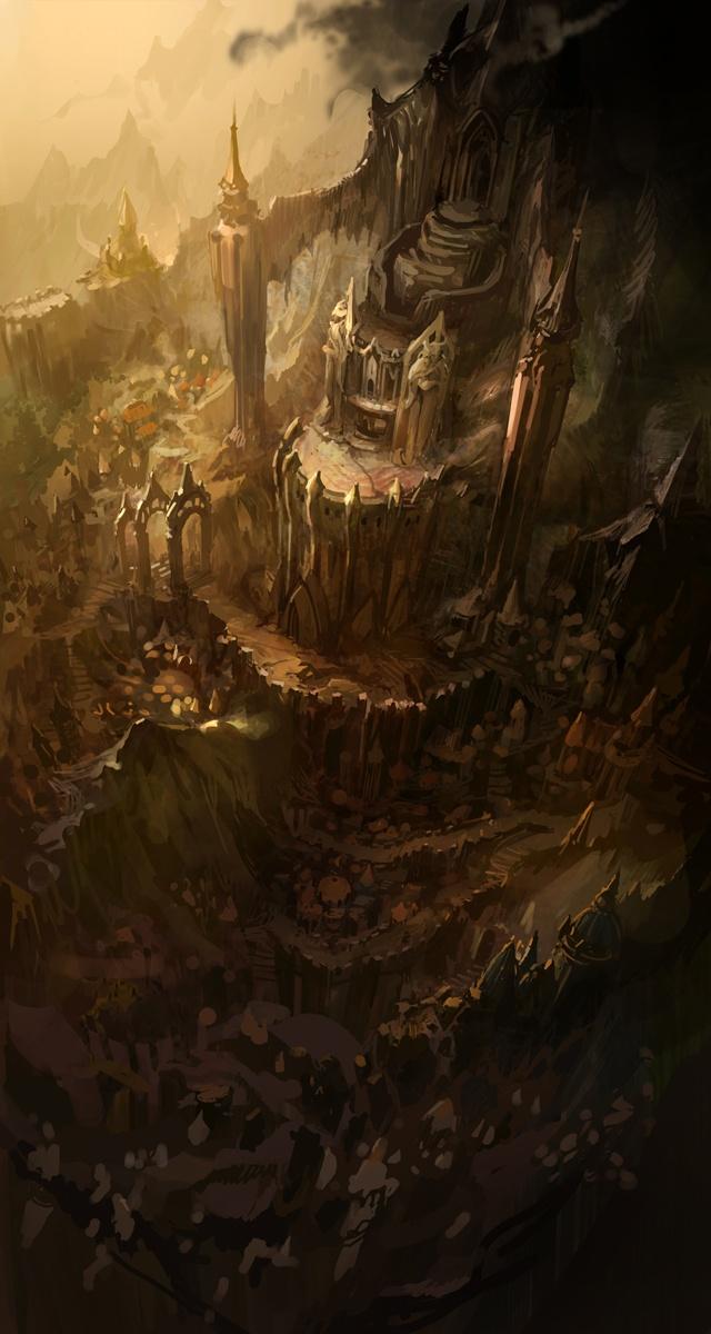 Concept art for Diablo 3: Environment