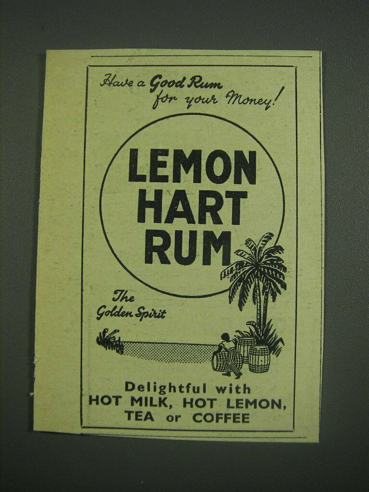 1949 Lemon Hart Rum Ad eBay in 2020 Good rum, Myers