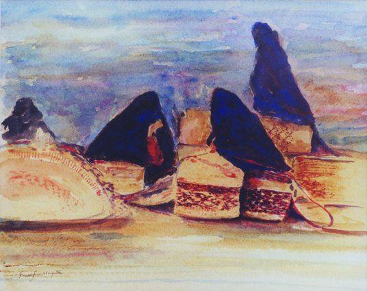 Abdulmajid Ali Al-Jarouf gallery. Saudi ladies in the souk