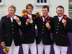 Equestrian Team Jumping finals. Britain takes gold on Day 11.