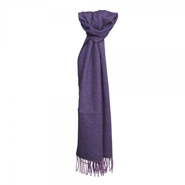 A beautiful cashmere and lambswool scarf. Designed and made in our mill in Donegal, #Ireland.