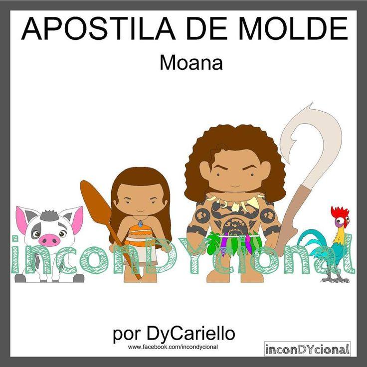 >> Apostila digital de moldes da Moana [conforme imagem], para ser feito em feltro/tecido.  >> Vem com os personagens que estão na imagem! Nesta mesma posição! http://incondycional.iluria.com/pd-4356cf-apostila-digital-de-moldes-da-moana.html?ct&p=1&s=1
