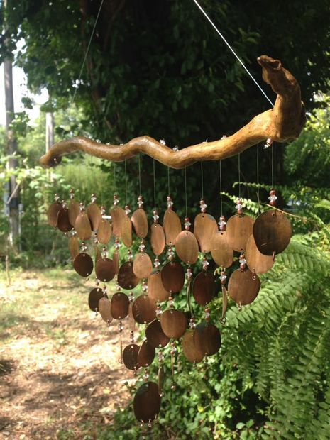 Picture of How to make Pressed Penny Wind Chimes (+ Sound file)