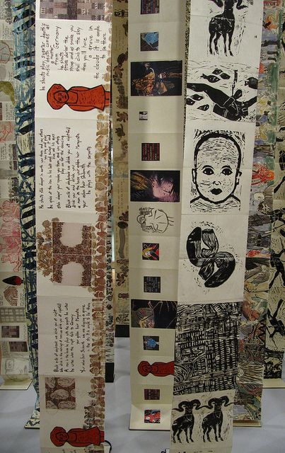 Hanging Book Installation - Detail by Yeshiva University Museum Exhibitions, via Flickr