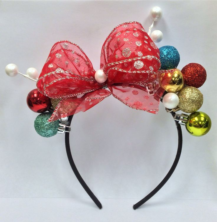 Best 25 diy christmas headbands ideas on pinterest mini mouse christmas headband solutioingenieria Image collections