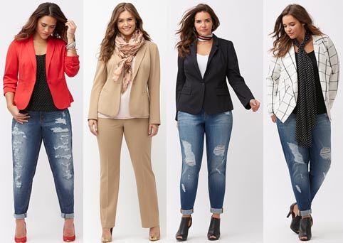 Платья для полных девушек из джинса