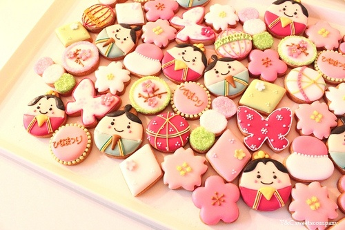 Hinamatsuri mini cookies