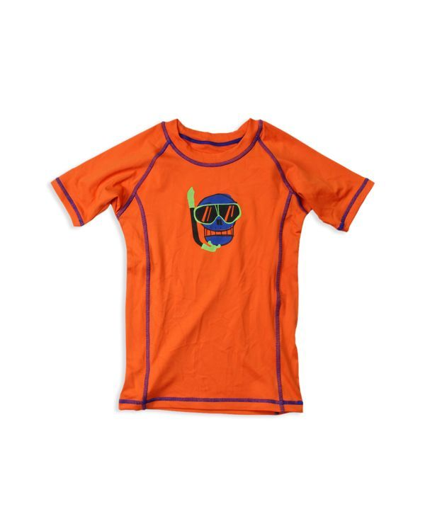 Wes & Willy Boys' Scuba Skull Graphic Rash Guard - Sizes 2T-7