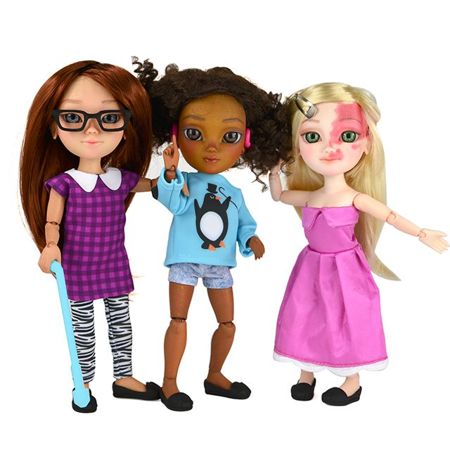 """""""Makielab, the 3D printed toy company has created a line of toys for the Toy Like Me campaign, which urges toy companies to make toys that all children can see themselves in. Makielab will sell wheelchairs, walking sticks, hearing aids for their 3D printed Makies, and can add port-wine stains to faces to order."""""""