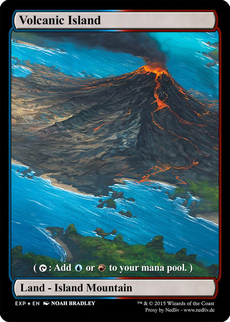 MTG - Altered Fullart Proxy - Volcanic Island by Nedliv on DeviantArt