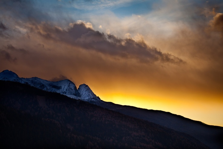 A sunset at the Dolomites.
