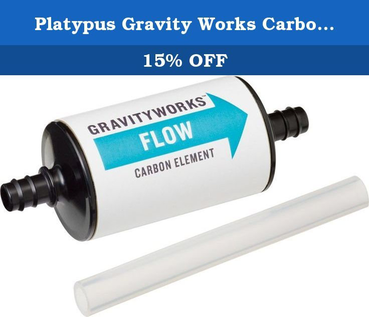 Platypus Gravity Works Carbon Element. Maximize the Platypus taste-free experience with the new GravityWorks Carbon Element. It easily spices in after the the GravityWorks hollow fiber element with an included hose segment, helping to remove flavors, odors, and many organic compounds from filtered water for the best taste possible.