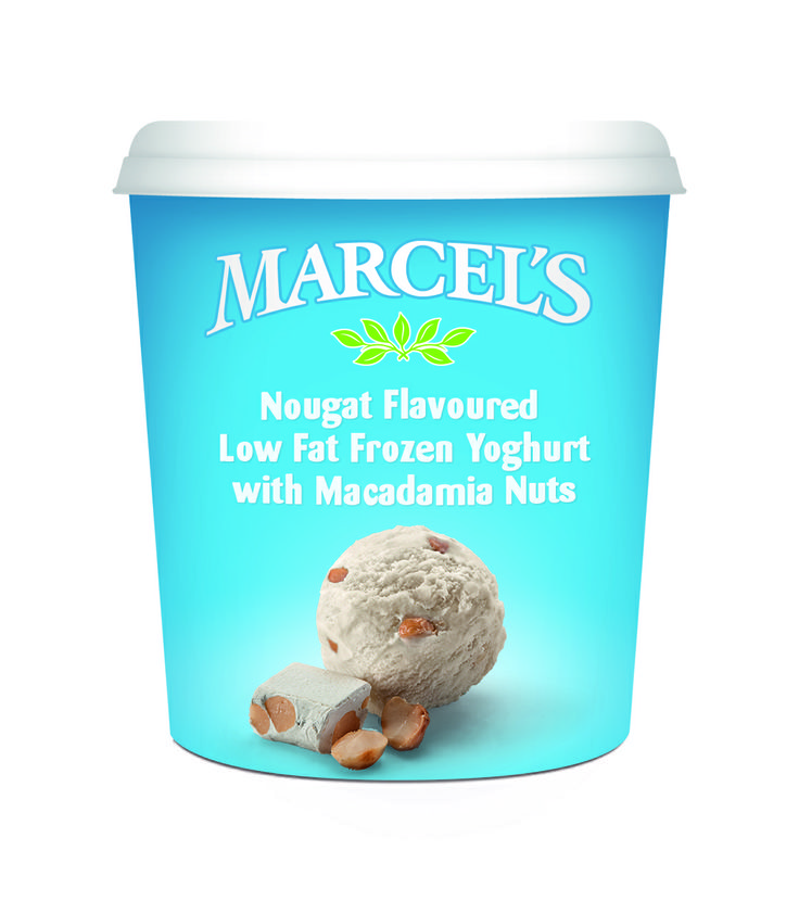 Marcels frozen yoghurt, with Wedgewood Nougat!  Gotta try this...