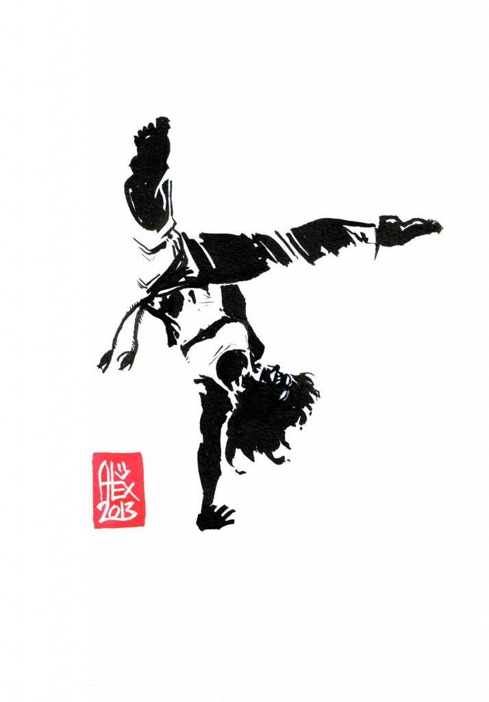 Encres : Capoeira – 451 [ #capoeira #watercolor #illustration]