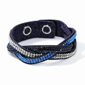 Crystal Rhinestones Leather Wrap Bracelet from Babao Jewelry.   #krissylovesbling #allthingsbling #discoverdesigners #fashioncoupons