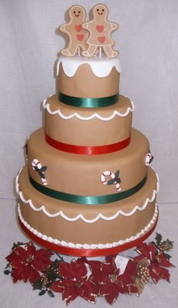 Gingerbread couple wedding cake http://gardnersbakery.blogspot.com/