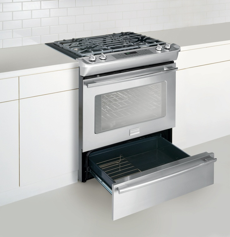 Professional Dual-Fuel Slide-In Range - Stainless
