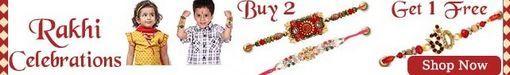 New Buy 2 Get One Rakhi Free Offer by Firstcry and beautiful Rakhi starting at price Rs. 24 only. You can select from a wide range of beautiful Rakhi like Ethnic and Traditional Rakhi, Kidz Rakhi, Fancy Rakhi, Rakhi Gift Pack and Set, Rakhi with Raksha Bandhan Card etc.