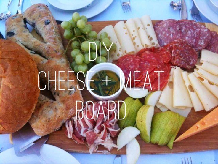 DIY: Fleisch- und Käseplatte –
