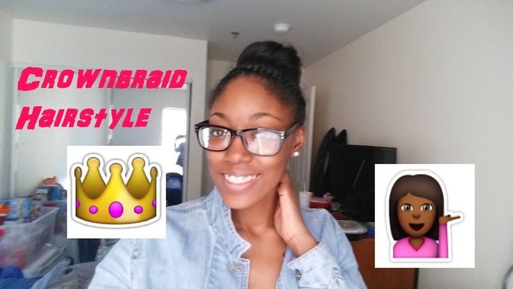 Transitioning Hairstyle: Crownbraid with bun