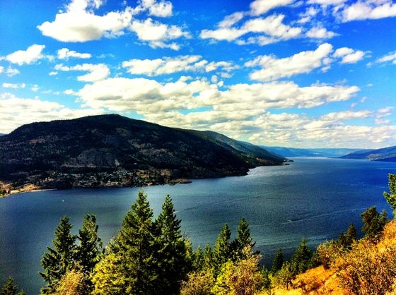 The view from the top of Knox Mountain in Kelowna