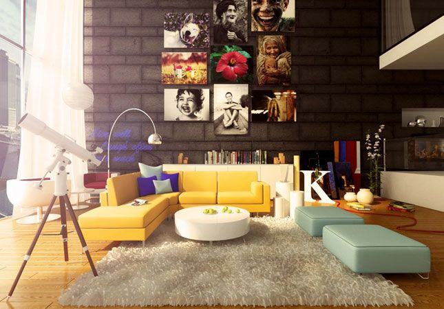 Pop furniture creates such a cheerful vibe | Colorful Living Rooms