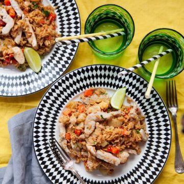 Fried rice med kyckling - Recept - Tasteline.com