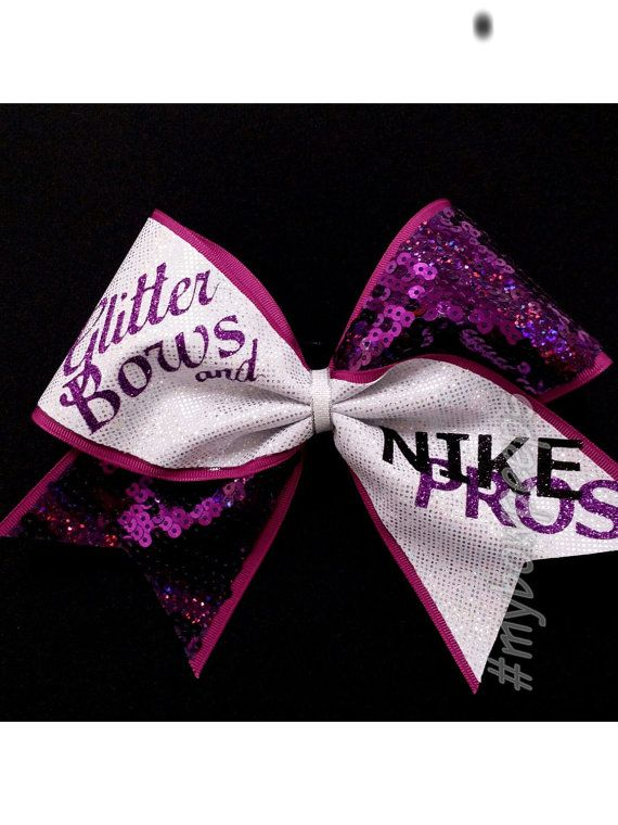 Glitter Bows and Nike Pros Cheer Bow by MyBowPeeps on Etsy