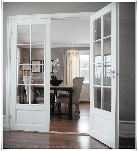 Doppeltür mit Glas - perfekt für die Trennung vom Wohn- zum Esszimmer