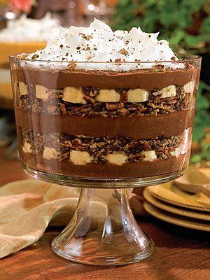Chocolate-banana pudding