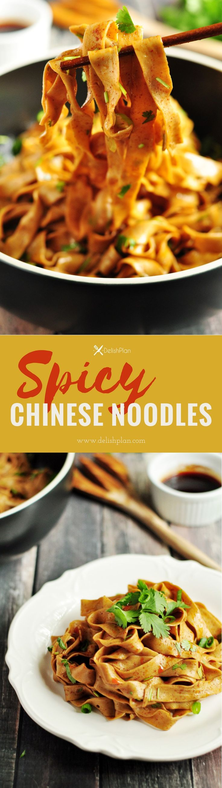 These mouthwatering spicy Chinese noodles are the most savory and irresistible noodles you'll ever have. It only requires six ingredients. Make and slurp!