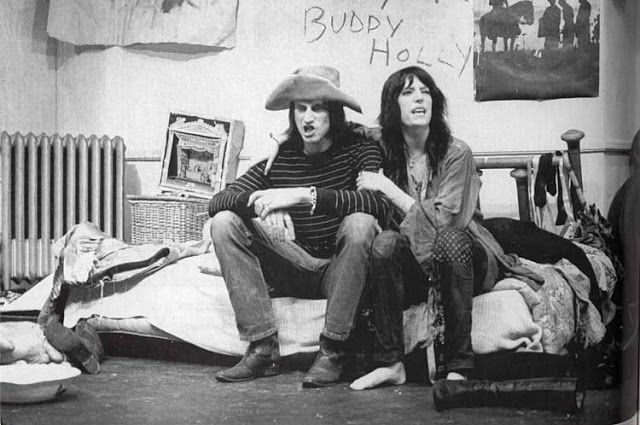 Sam Shepard and Patti Smith Chelsea Hotel, New York, 1971 photo by Gerard Malanga