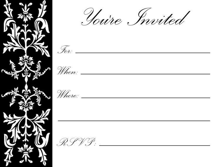 25 best ideas about Free Printable Birthday Invitations on – Free Online Printable Birthday Invitations
