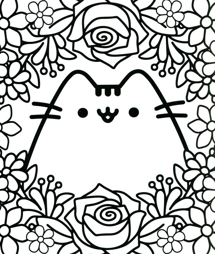 Kawaii Coloring Pages Pusheen Coloring Pages Cartoon Coloring