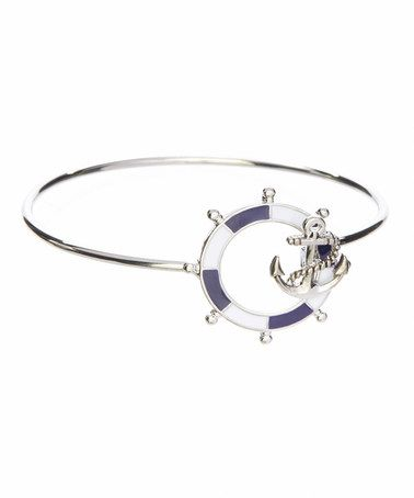 Look at this #zulilyfind! Navy Anchor Nautical Charm Bracelet by LCO Jewelry #zulilyfinds