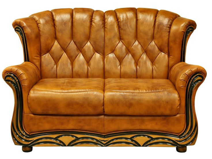 Classic design leather sofa with sleeping system