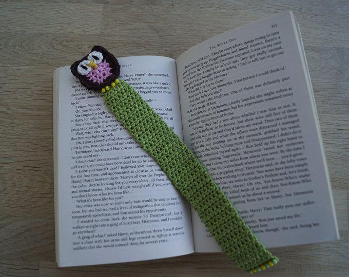 Marcapáginas de crochet búho