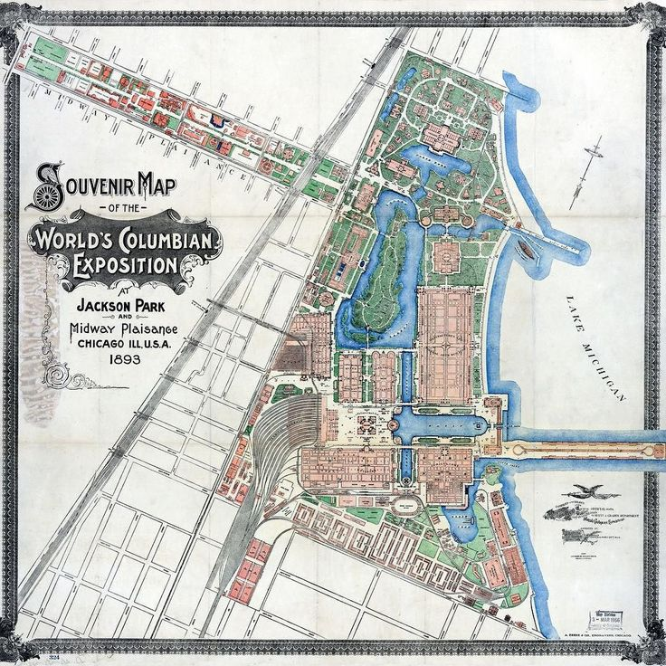Location: Jackson Park  Souvenir Map of the World's Columbian Exposition 1893. #TBT