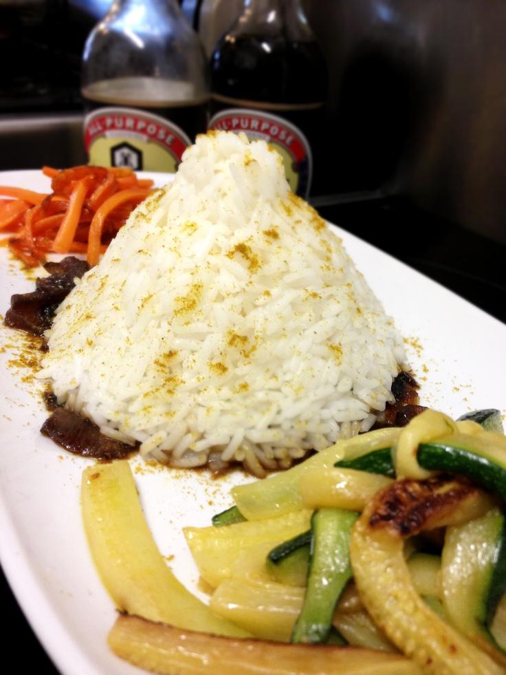 #lunch@KOKO Riso basmati curry e verdure