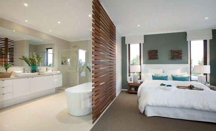 59+ Marvelous Open Bathroom Concept For Master Bed…