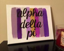 Toile de peinture AVC sororité : Alpha Delta Pi