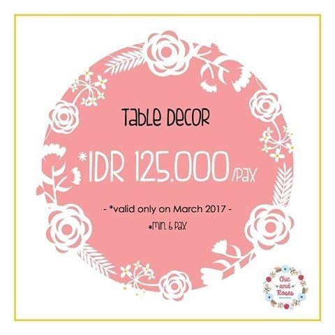 👉 @chicandroses.id  Hey guys !! we have special deals for your once-in a-lifetime-moment 💖 (booked before 1 week) This promo is valid until the end of March 2017 ! Let's pick the date and celebrate your special moment with us 💙  For more information , please kindly contact us : 💌 chicandroses.id@gmail.com Wa : 08977 127 199 (line) : Fionavalencianes . . #partyplannerjakarta #partyplannerpromo #sweetcornerjakarta #tabledecorjakarta #tabledecorpromo #tabledecormurah #desserttablejakarta…