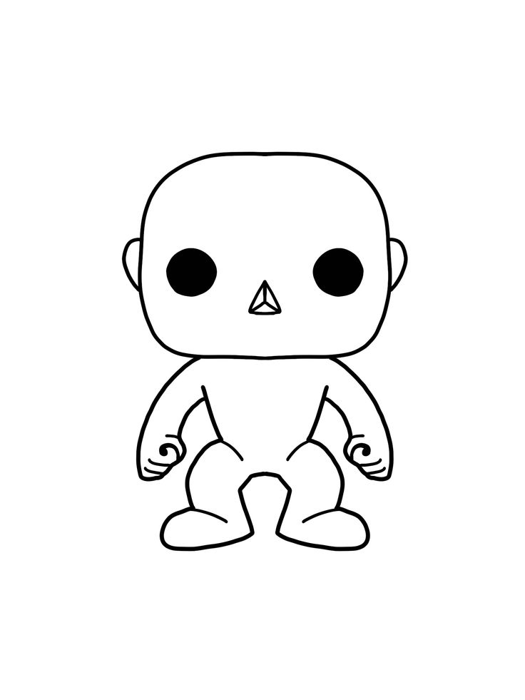 Color Your Own Male Funko Pop Coloring Books Coloring