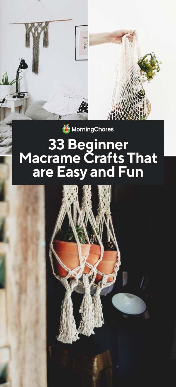 33 DIY Macrame voor beginners Craft & Project Ideeën die eenvoudig en leuk zijn