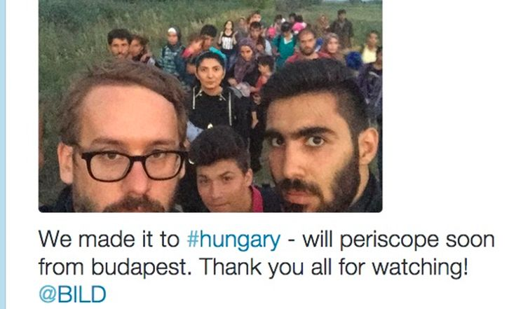 Bild reporter Paul Ronzheimer travelled across Europe live-streaming interviews: 'For the refugee story, the personalisation is very important'