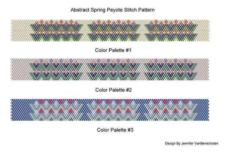 Free Charted Peyote Stitch Patterns