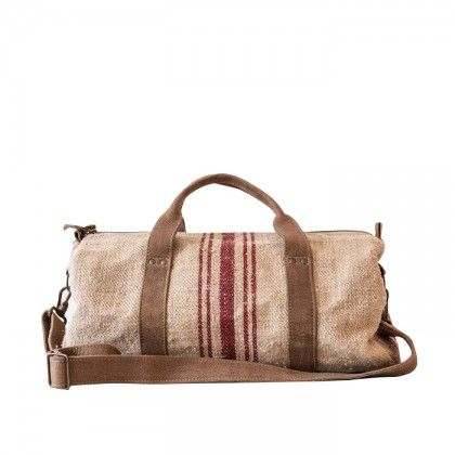 Antique Linen Duffel Bag Wren