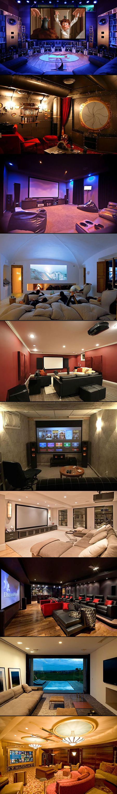 10 Incredible Home Theaters That Geeks Would Love. These could also make great gaming rooms :)